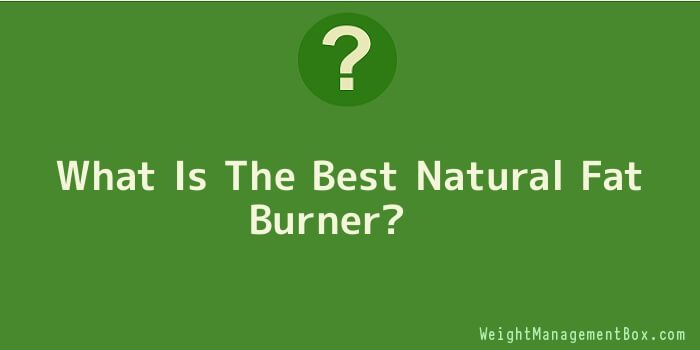 What Is The Best Natural Fat Burner